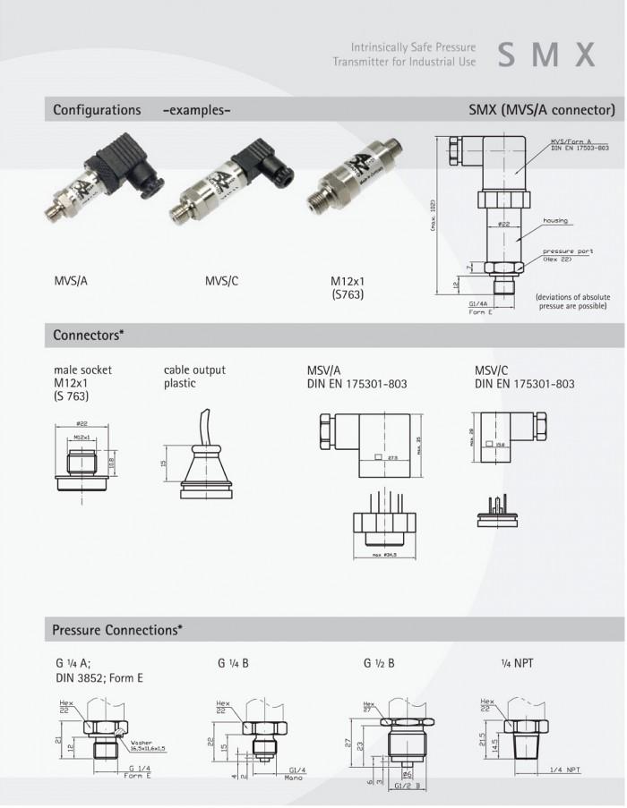 ADZ SMX pressure sensors