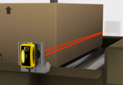 Retro-Reflective Sensors ลำเลียงกล่องสำหรับบรรจุผลิตภัณฑ์